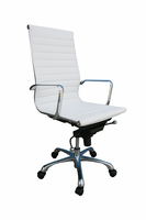J & M Furniture Comfy High Back White Office Chair