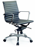 J & M Furniture Comfy Low Back Black Office Chair