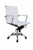 J & M Furniture Comfy Low Back White Office Chair