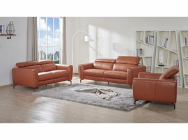 J & M Furniture Cooper Leather Sofa Set