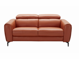 J & M Furniture Cooper Love Seat in Pumpkin
