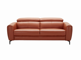 J & M Furniture Cooper Sofa in Pumpkin