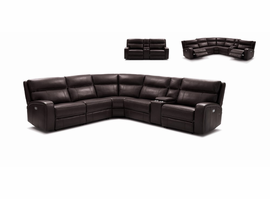 J & M Furniture Cozy Motion Sectional In Chocolate