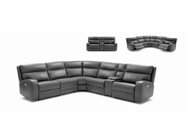 J & M Furniture Cozy Motion Sectional In Grey