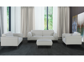 J & M Furniture Davos Leather Sofa Set