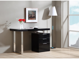 J & M Furniture Geneva Desk In Black