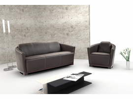 J & M Furniture Hotel Leather Sofa Set