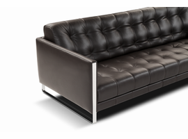 J & M Furniture Juliet Leather Sofa Set