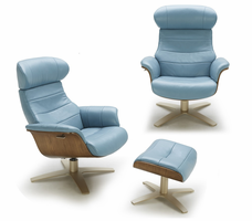 J & M Furniture Karma Blue Chair