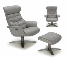 J & M Furniture Karma Chair in Grey