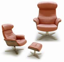 J & M Furniture Karma Chair in Pumpkin