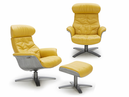 J & M Furniture Karma Mustard Chair