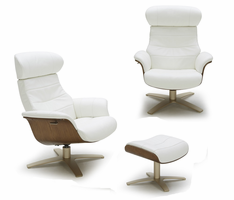J & M Furniture Karma White Chair
