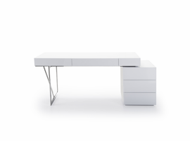J & M Furniture Loft Modern Office Desk