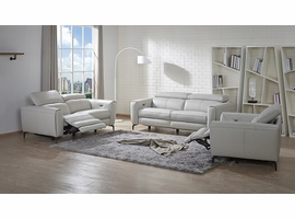 J & M Furniture Lorenzo Leather Sofa Set