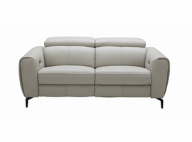 J & M Furniture Lorenzo Love Seat in Light Grey