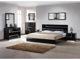 Lucca Black Lacquer Bedroom Furniture