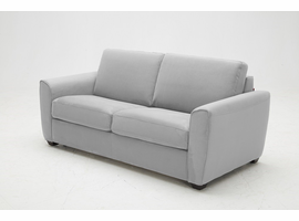 J & M Furniture Marin Sofa Bed in Light Grey Fabric