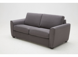 J & M Furniture Mono Sofa Bed in Grey Fabric