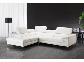 J & M Furniture Nila Premium Leather Sectional In Left Facing Chaise
