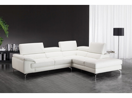 J & M Furniture Nila Premium Leather Sectional In Right Facing Chaise