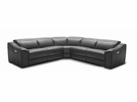 J & M Furniture Nova Motion Sectional In Dark Grey