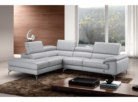 J & M Furniture Olivia Premium Leather Sectional In Left Facing Chaise