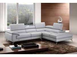 J & M Furniture Olivia Premium Leather Sectional In Right Facing Chaise