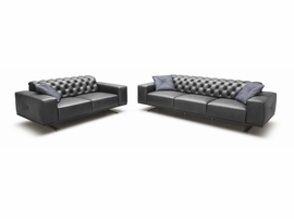 J & M Furniture Othello Leather Sofa Set