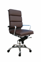 J & M Furniture Plush Brown High Back Office Chair