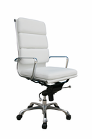 J & M Furniture Plush White High Back Office Chair