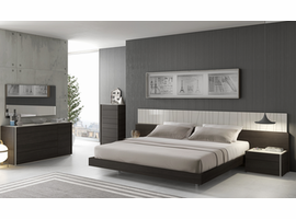 J & M Furniture Porto Bedroom Furniture in Wenge with  Light  Grey