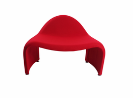 J & M Furniture Relax Chair Red Fabric
