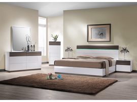 J & M Furniture Sanremo Bedroom Furniture Walnut & White Lacquer