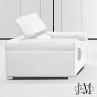 J & M Furniture Soho Chair in White Leather