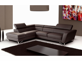 J & M Furniture Sparta Chocolate Color Left Hand Facing