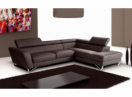 J & M Furniture Sparta Chocolate Color Right Hand Facing