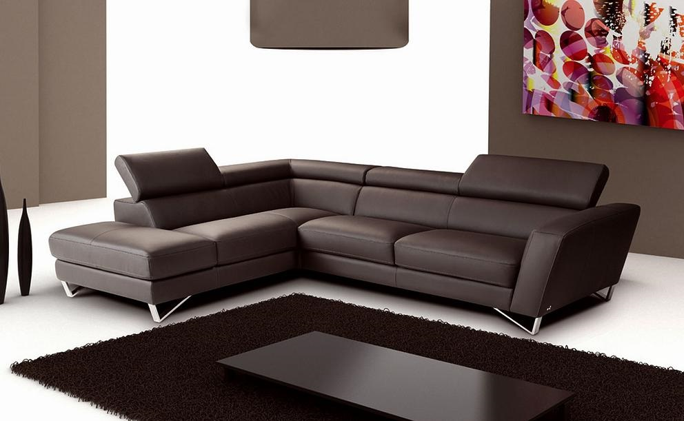 J M Furniture Sparta Leather Sectional Set