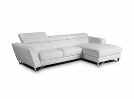 J & M Furniture Sparta Mini Right Hand Facing Chaise in White