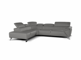 J & M Furniture Tesla Sectional Left Hand Facing in Grey