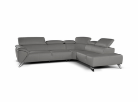 J & M Furniture Tesla Sectional Right Hand Facing in Grey