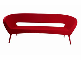 J & M Furniture Tiffany Sofa Red Fabric