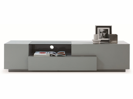 J & M Furniture TV Stand 015 in Grey High Gloss