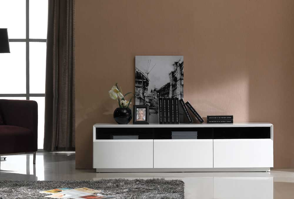 J M Furniture Tv Stand 023 In White High Gloss