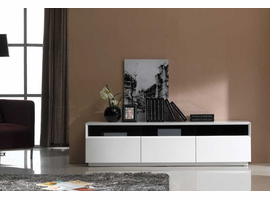J & M Furniture TV Stand 023 in White High Gloss