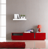 J & M Furniture TV Stand 027 in Red High Gloss