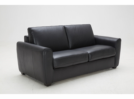 J & M Furniture Ventura Sofa Bed in Black Leather