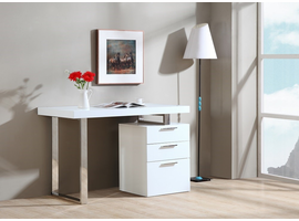 J & M Furniture Vienna Desk In White