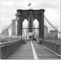 J & M Furniture Wall Art Brooklyn Bridge Flag