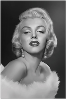 J & M Furniture Wall Art Marilyn Monroe II
